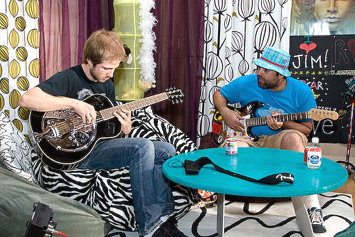 Jam session on bean bags